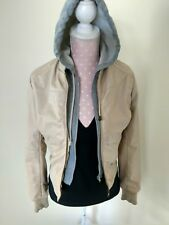 Miss Posh Small faux leather jacket with built in hoodie, double zipppers