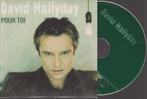 David Hallyday Pour Toi Cd SIngle Card Sleeve