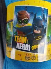 DC BATMAN LEGO -  POLAR FLEECE BLANKET - NEW - 100CM BY 150CM - TEAM HERO