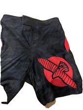 Hayabusa Welded Mma Kickboxing Fight Shorts 32 Black Red New W/ Tag W3Fs-B3