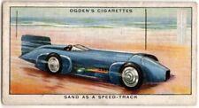 """Campbell Napier-Arrol Aster """"Blue Bird"""" 1929 Race Car 85+ Y/O Trade Ad Card"""
