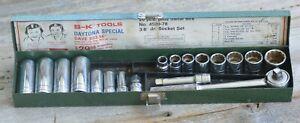 "Vintage S-K TOOLS DAYTONA SPECIAL 3/8"" Drive socket Set No 4520-78 18 Piece"
