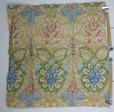 Pottery Barn Yellow Green Blue Floral Euro Square Pillow Sham Cotton 2014