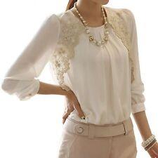 Markenlose Damen-Blusen Damenblusen, - tops & -shirts aus Chiffon