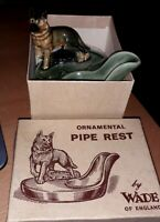 BNIB! WADE Vintage Art Deco Ceramic German Shepherd Pipe / Spoon Rest
