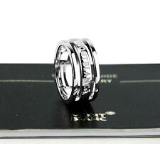 "MONTBLANC STERLING SILVER ""THREE RINGS"" SKELETON RING SIZE 11.5 NEW BOX GERMANY"