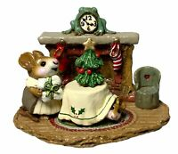 """Wee Forest Folk: """"Christmas Eve"""" Hiding, Fireplace, Collectable, 1993, M-191"""