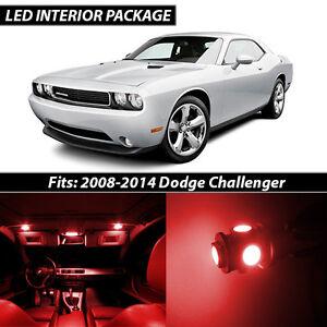 2008-2014 Dodge Challenger Red Interior LED Lights Package Kit