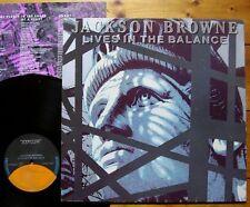 Jackson Browne - Lives in the Balance GER 1986 + OIS + Texte Asylum 960457-1 TOP