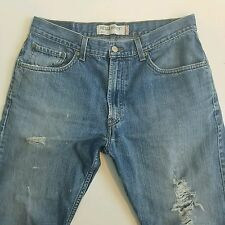 Levi's 505 denim jeans Distressed Destroyed Regular Fit 34x30 men's WPL423
