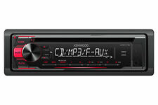 NEW Kenwood 1 DIN KDC-118 In-Dash CD/MP3/WMA Player 3 Band EQ Front AUX Input