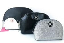 Kate Spade Triple Dome Cosmetic Case Set of 3 Pieces Frosty Penguin WLRU5745 NWT