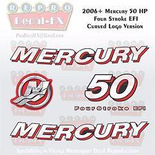 2006+ Mercury 50HP Crv Decal EFI FourStroke Outboard Repro 5 Pc Curved Logo Ver.