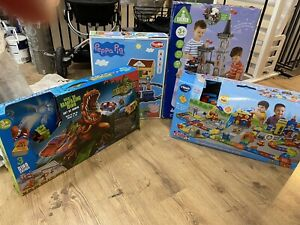 vtech toot toot track, peppa pig, dinosaur, castle toy set bundle job lot