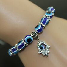 Evil Eye Hamsa Beaded Bracelet With Hand Of Fatima Charm Women Bangles Cn