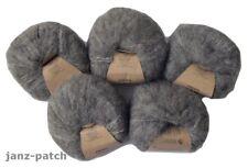 5 x 25g Drops Brushed Alpaca Mulberry Silk Knitting Yarn - Grey #3