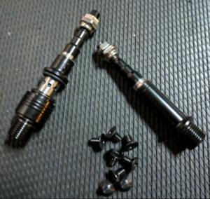 Black Edition Mks Promenade Titanium Axles Set for Brompton