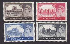GB QE2 CASTLES 1955/8 Edward wmk 1st De La Rue printing FU fine used SG536a-39a