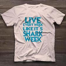 Live Every Week Like It's Shark Week T-Shirt Sharks TV Funny New Tee