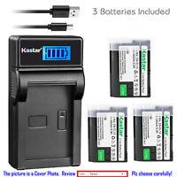 Kastar LCD USB Charger Battery for Original Nikon EN-EL15 Nikon OEM MH-25 MH-25A