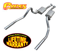 1986-1993 Pypes Mustang LX 5.0 Cat Back Exhaust System w/ Violator & Tips