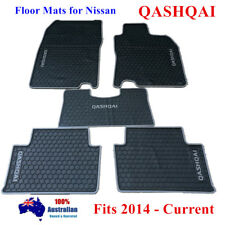 Waterproof Rubber Floor Mats Tailored For Nissan Qashqai 2014 - 2018 Grey Trim
