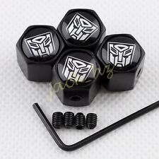Antitheft BLACK Car Auto Wheel Tire Tyre Valve Stem Air Caps Transformers 4pcs