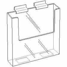 7.5 inch wide Clear Acrylic Slatwall Brochure Holder  Lot of 25   DS-LHW-Z151-25