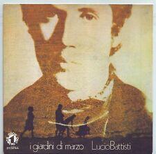 """LUCIO BATTISTI I Giardini di Marzo (1972) Vinyl 7"""" 45 rpm RISTAMPA 2013"""