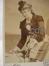 Mora CDV Photo Minnie Hauk Opera Singer Poker Player cdii