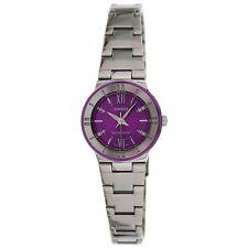 Casio Ltp1368d-6a Ladies Purple Dial Metallic Stainless Steel Dress Watch