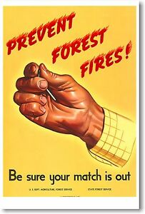 Prevent Forest Fires - NEW Vintage Reprint POSTER