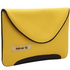 "Tech air Lote iPad 1 2 3 10"" Tableta sonre Netbook Funda Deslizar Amarillo"