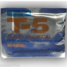 5 Pack T-5 Toilet Chemicals Portable Toilets Camping Survival Emergency Disaster