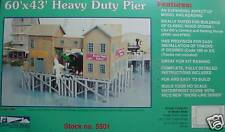 WOOD PIER 60' X 43' HEAVY DUTY PIER KIT, IHC HO  KIT