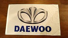 DAEWOO GM FLAG BANNER 3X5FT LANOS LAGANZA TV CAR NUBIRA