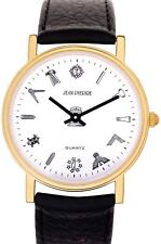 Gents Black Leather Masonic Wrist Watch - White Face Quartz Slimline - Gift Box