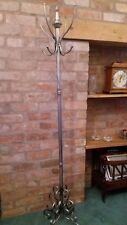 STUNNING COAT & HAT STAND IN A GORGEOUS BRUSHED GREY METAL EFFECT