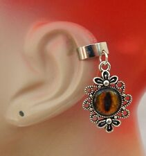 Silver Dragon Eye Charm Drop/Dangle Ear Cuff Handmade Jewelry Accessories NEW