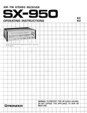 Pioneer SX-950 Receiver Owners Manual