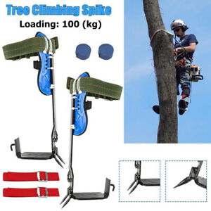 2-Gear Tree Climbing Spike Set Adjustable Belt Lanyard Rope With Hard Claws