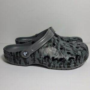 Crocs Baya Seasonal Printed Clog Camo 206230-07I Size Mens 9 Womens 11 Gray