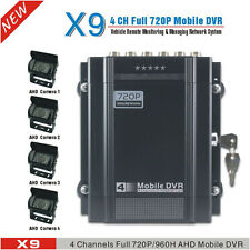 720P 4 Channel H.264 Car DVR Kit and Vehicle Video Recorder DVR With AHD Camera