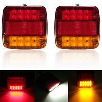 Coppia Fanali Luci Posteriori 12V A LED Per Camion Rimorchio Autocarro Lampade