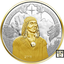 2018 'Tecumseh - 250th Anniversary' Piedfort Prf $25 Fine Silver 1oz.Coin(18583)