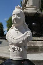 Small Gypsum Sculptures Of Queen Victoria 14.5cm Hand Made British Bust New