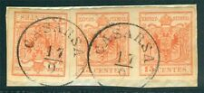 Lombardei Venetien Nr. 3 Y II Paar + Marke auf Briefstück glasklar gestempelt Be
