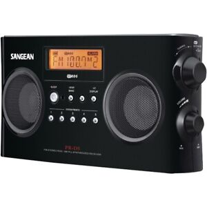Sangean PR-D5-BK Digital Portable Stereo Receiver with AM/FM Radio Black