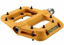 """Race Face Chester Mountain Bike Flat Platform Pedals 9/16"""", Mustard"""