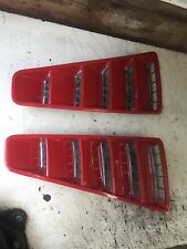 1965 1966 Mustang  Shelby Fastback Roof Vent Pair Complete With Chrome Grilles